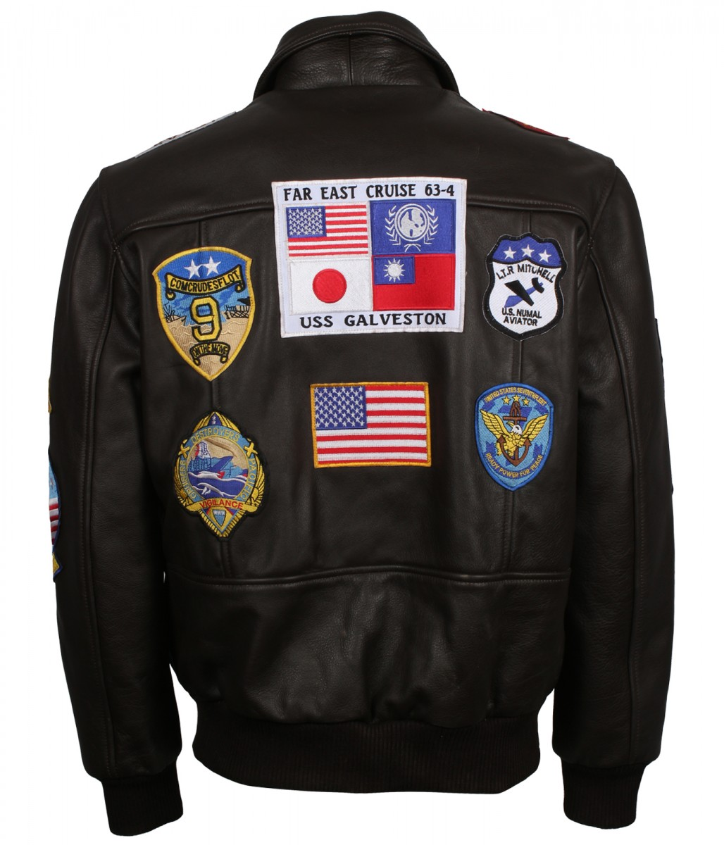 Tom Cruise Top Gun Black//Brown Leather Jacket For Men Biker Retro Motorcycle